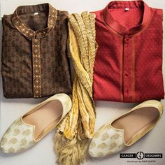 """Look Smart in traditional getup..... Any man can look handsome wearing these Kurta, Putting stole, traditional Juttis. Try it for yourself on any occasion of Puja, Wedding functions. Choose smart look Smart."" #ravigupta #delhi #india #mojaris #jodhpuri #juttis #soft #designer #groom #weddings #menswear #pooja #indianculture #cocktailnight #indianweddings #traditional #kurta #stole #sherwanijutti #fashion #style #dapper"