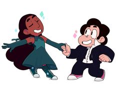 Steven and Connie Perla Steven Universe, Steven Universe Ships, Greg Universe, Universe Art, Universe Theories, Holly Blue, Thing 1, Drawing Reference Poses, Cartoon Network