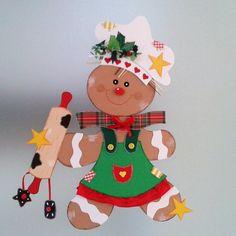 Fensterbild  - Lebkuchenfrau - Weihnachten  Dekoration - Tonkarton! 4 • EUR 16,90