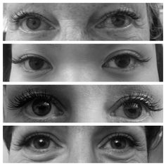 Short looking Lash Extensions.