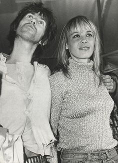 Anita Pallenberg and Keith Richards.