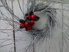 Large Christmas Wreath, White Christmas, Christmas Gifts, Christmas Decorations, Twig Wreath, Berry Wreath, Autumn Wreaths, Holiday Wreaths, Wreaths For Front Door