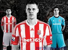 Stoke City Adidas 2012/13 150th Anniversary Home Football Kit / Soccer Jersey // Classical Red X White