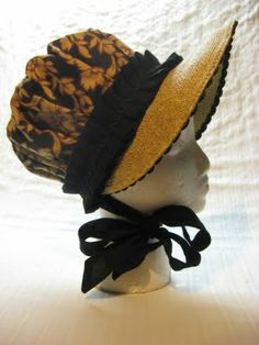 The Merry Dressmaker: A Regency Bonnet Tutorial very nicely detailed!! Made from a summer cheapo visor. Excellent idea!