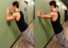 Forearm wall push-up