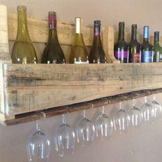 Pallethouten wijnrek dubbel