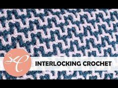 Interlocking crochet tutorial video. Bargello pattern. Hoe je deze steek moet haken zie je in deze video tutorial. Nederlandse uitleg.