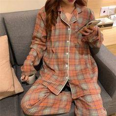 Cute Pajama Sets, Cute Pajamas, Aesthetic Grunge Outfit, Aesthetic Clothes, Cute Sleepwear, Moda Outfits, Korean Girl Fashion, Pajama Outfits, Stylish Dress Designs
