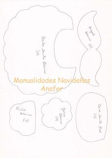 Manualidades Anafer: Moldes Felt Dolls, Christmas, Crafts, Cilantro, Patterns, Blog, Bed Skirts, Xmas, Feltro