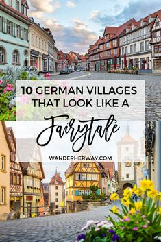 The most beautiful fairytale villages in Germany to add to your bucket list! : The most beautiful fairytale villages in Germany to add to your bucket list! Europe Travel Tips, European Travel, Travel Destinations, Budget Travel, Cheap European Cities, Travel News, Holiday Destinations, Travel Guide, Cool Places To Visit