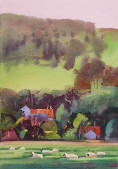 Sheep Pastoral, Blair Atholl, Scotland  by Stephen Quiller