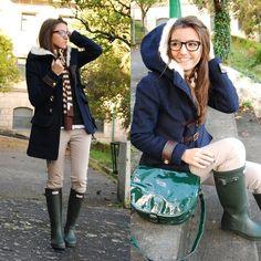 Blue + green olive (by Alexandra Per) http://lookbook.nu/look/1369373-blue-green-olive