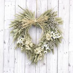 Create Your Own Dried Flower Heart Wreath by Shropshire Petals, the perfect gift for Explore more unique gifts in our curated marketplace. Rustic Feel, Rustic Charm, Growing Flowers, Dried Flowers, Wheat Flower, Homemade Wreaths, Heart Wreath, Rustic White, Centre Pieces