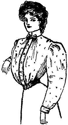 Past Patterns: #6277B: Ladies' Plain Short Waist: Circa 1906