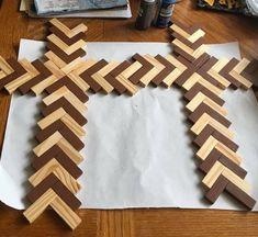 Wooden Clothespin Crafts, Wood Crafts, Paper Crafts, Dollar Tree Decor, Dollar Tree Crafts, Diy Crafts Lanterns, Jenga Diy, Jenga Blocks, Wooden Crosses