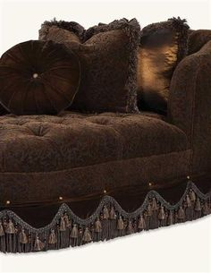 DARK CHOCOLATE VELVET CHAISE, VICTORIAN TRADING CO.