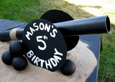 Sweeten Your Day Events: #DIY #Pirate #Party #Decorations #Cannon #Table #Centerpieces