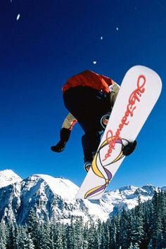 #snowboarding.   I dig these crazy awesome sports they have these days. I wish I were young again to do some of these.
