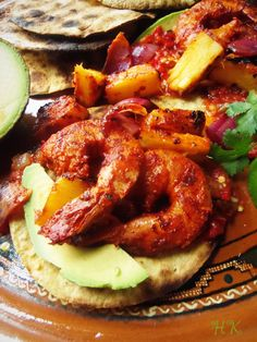 Camarones al Pastor (Achiote-Pineapple and Chipotle Marinated Shrimp) | Hispanic Kitchen