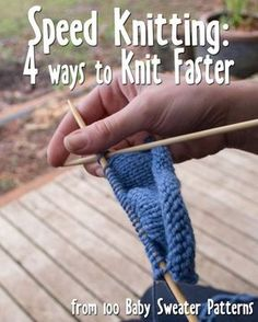 Four techniques to try to improve knitting speed by Stephanie Mason: Continental. Four techniques to try to improve knitting speed by Stephanie Mason: Continental, Lever, and Flick knitting or just knit. Knitting Help, Loom Knitting, Knitting Stitches, Knitting Needles, Hand Knitting, Knitting Basics, Baby Sweater Patterns, Knitting Patterns, Stitch Patterns