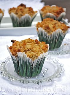 Les gourmandises d'Isa: MUFFINS AUX BANANES, SIROP D'ÉRABLE ET PACANES Brownie Bites, Brownie Cookies, Muffin Recipes, Bread Recipes, Desserts With Biscuits, Healthy Muffins, Summer Desserts, Cupcake Cakes, Cupcakes