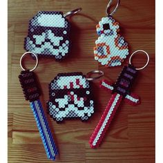 Star Wars: The Force Awakens keychains perler beads by  rahrahcuppycake