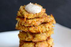 Sweet potato latkes. Yum!
