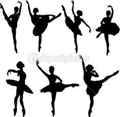 Ballet dancers silhouettes by Dazdraperma - Stockvectorbeeld