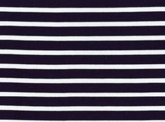 Saint-James Striped Interlock Knit White on Navy
