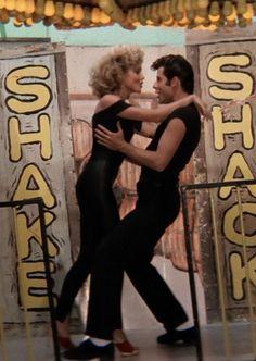 Olivia Newton-John and John Travolta in 'Grease', 1978.