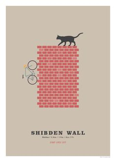 Shibden Wall Cycling Poster Cycling Hill Climb