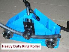 Heavy Duty Ring Roller /Roller Bender. Outer rings run on bearings. Round bar - max. Ø24 mm. Square bar - max.20 x20 mm. Flat bar (on flat) - max.50 x12 mm. Two possible shafts settings -space between shafts - 180 mm and 420 mm. | eBay!