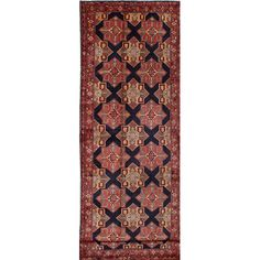 ECARPETGALLERY Ardabil Hand-Knotted Blue Area Rug