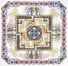Celtic Maze Garden Cross Stitch Patterm by Chatelaine Designs, Martina Rosenberg   http://europeanxs.com/cgi-bin/chat_detail.pl?CD077-