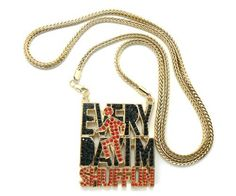 Gold Iced Out LMFAO Every Day I'm Shufflin Pendant with a 36 Inch Franco Chain Necklace Sorry For Party Rocking JOTW, http://www.amazon.com/dp/B006QLTG3Y/ref=cm_sw_r_pi_dp_u4Kkqb0HQ0Z2W