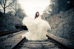 Train Bride  Photos by Photographer Luke Woodford
