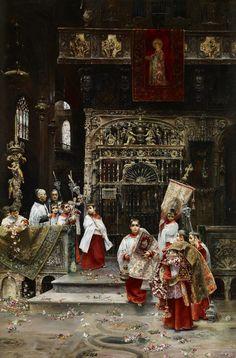 José Gallegos y Arnosa. Niños del coro, c.1885-1890. Colección Carmen Thyssen-Bornemisza en préstamo gratuito al Museo Carmen Thyssen Málaga