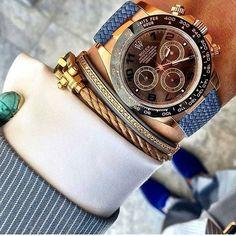 Rolex Daytona , This combo is wonderful ! ⌚️#beautifulmenswatches #rolex #daytona #rolexwatch #rolexwrist #watch #bracelet #combo #dress #beautiful #lovely #perfect #amazing @whatusmenlike