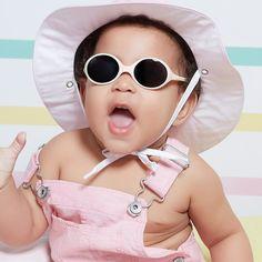 Ochelari de soare Ki ET LA, 0-18 luni - Cream - HipHip.ro La Colors, Our Girl, Wildfox, Marshmallow, Round Sunglasses, Kids Fashion, Accessories, Style, Summer Kids