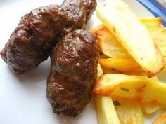 Seriously one of the best tasting things on this . - Romanian Sausages…Mititei …Seriously one of the best tasting things on this planet. my recipe i - Sicilian Recipes, Croatian Recipes, Turkish Recipes, Greek Recipes, Sausage Recipes, Cooking Recipes, Healthy Recipes, Healthy Food, Diet Recipes