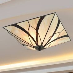 Stained Glass Chandelier, Stained Glass Lamp Shades, Stained Glass Light, Tiffany Stained Glass, Glass Shades, Industrial Ceiling Lights, Kitchen Ceiling Lights, Glass Ceiling Lights, Semi Flush Ceiling Lights