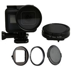 52mm UV Filter with Lens Cap Cover Connect Ring Adapter Wrench for Gopro Hero 5