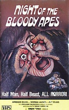 Awesomely Bad '80s VHS Artwork: 'Night of the Bloody Apes'