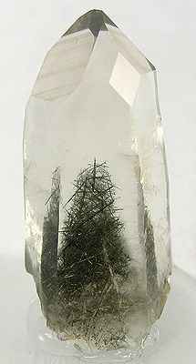 Crystal with green tree-like inclusion. Minerals...