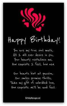 romantic birthday poems 20 Birthday Poems for Him - Love Poems Birthday Poems For Him, Romantic Birthday Messages, Happy Birthday Best Friend Quotes, Birthday Quotes For Girlfriend, Birthday Wishes For Lover, Birthday Wish For Husband, 20 Birthday, Romantic Poems, Hearts