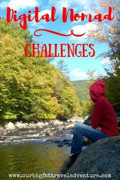 Digital nomad challenges, Pinterest Poster
