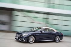 The new Mercedes-Ben S 65 AMG Cabrio, exterior: anthracite blue, fabric soft top beige #mercedes #sclass, #mbhess #cabrio