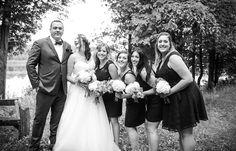 Bride and bridesmaids / Man of Honour  | Vintage wedding photography | www.newvintagemedia.ca | South Pond Farms Wedding