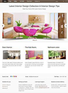Interior Designer Web Design by Melakas Creative Web Design Website