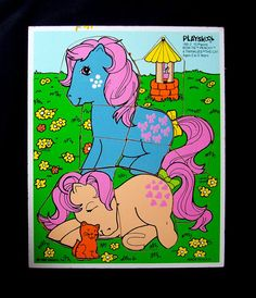 Vintage My Little Pony Wooden Puzzles  1985 by MoonkittensTimeline, $9.00